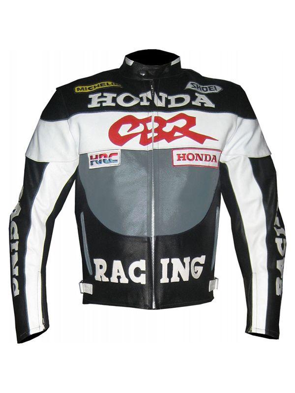 Honda Cbr Racing Moto Racer Leather Jacket Biker Jacket Style Biker Jacket Outfit Leather Jacket