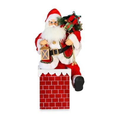 Buy Animated Muscial 24 Inch Santa In Chimney From Bed Bath