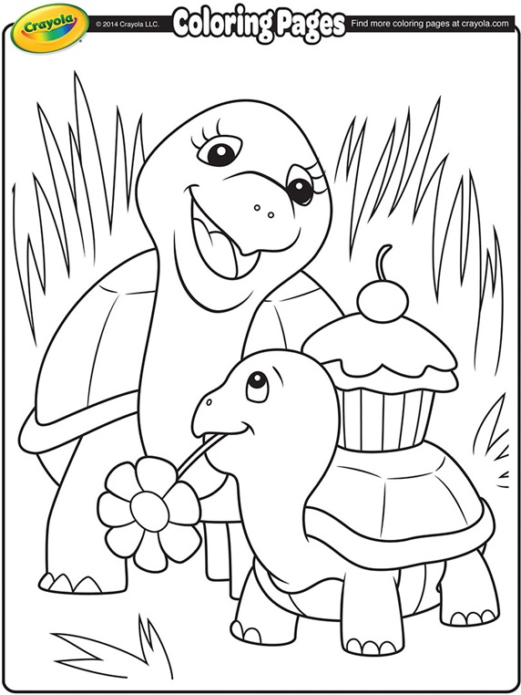 Turtle Mommy On Crayola Com Crayola Coloring Pages Turtle Coloring Pages Animal Coloring Pages