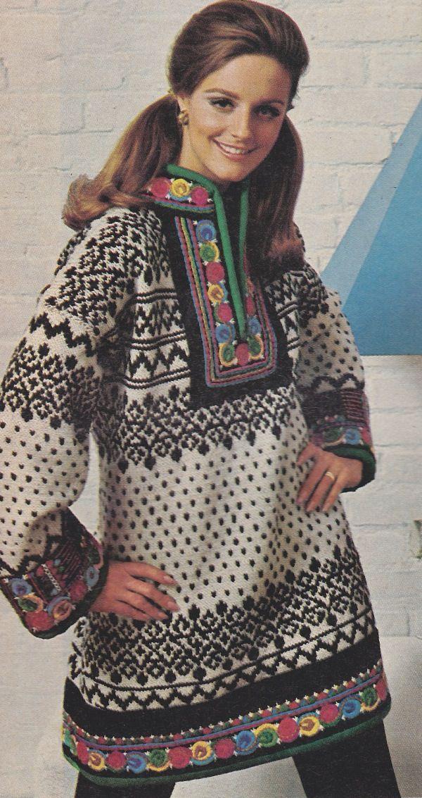 Knit dress (nordic sweaters) | Норвежский свитер | Pinterest | Moda ...