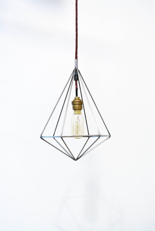 Suspension g om trique design en acier 2 luminaires par for Kit suspension luminaire