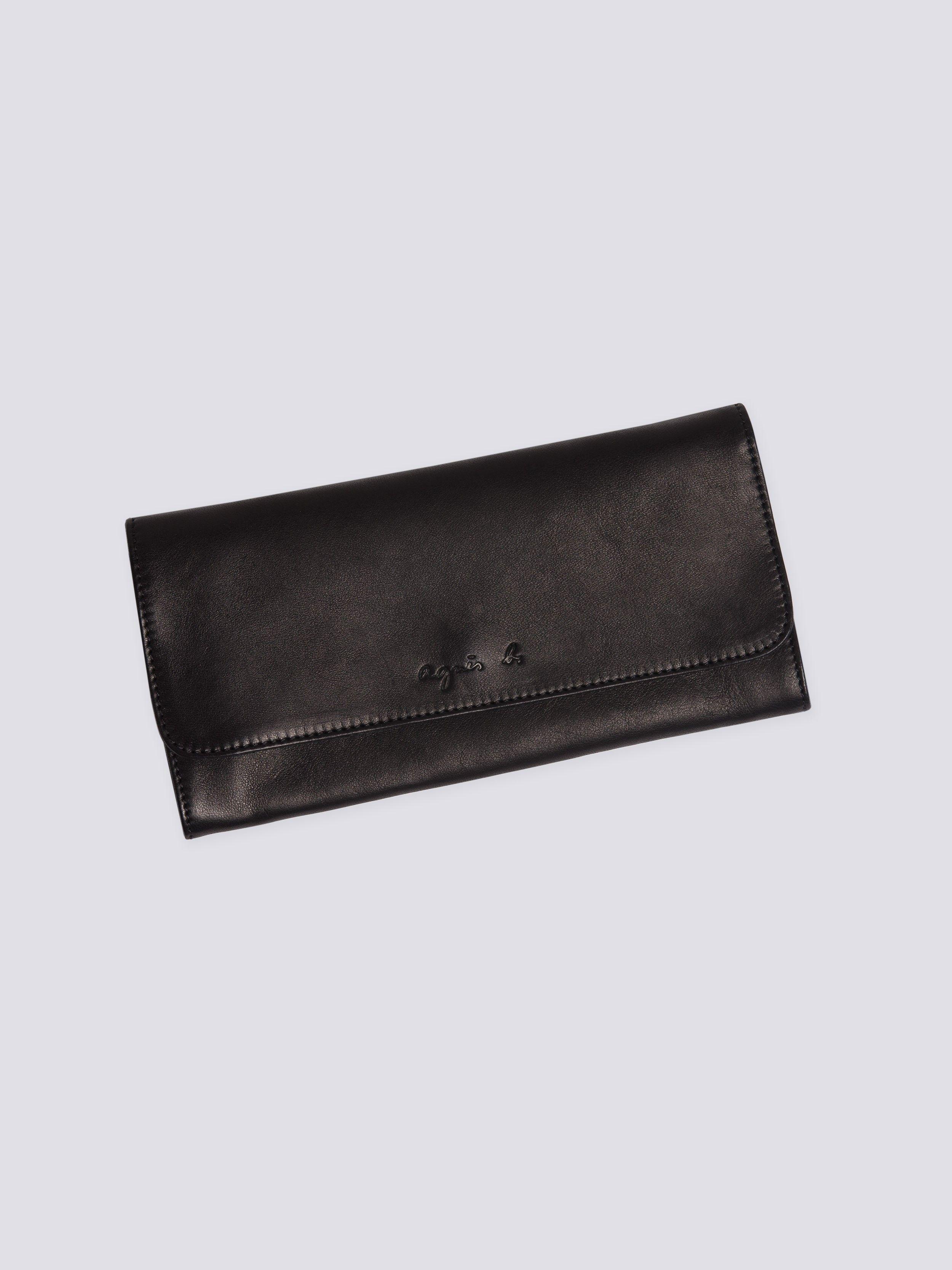 Black Amina Leather Wallet