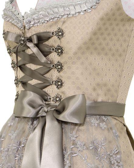 Silk & Pearls Midi-Dirndl mit Spitzenschürze