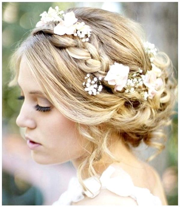 Side Braid With Flowers Hair Styles For Weddingsummer