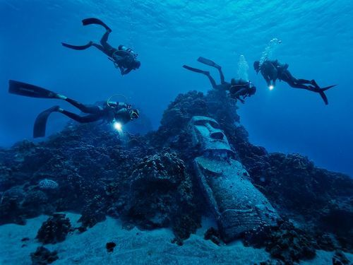 Divers, Easter Island  Photograph byRandy Olson, National Geographic