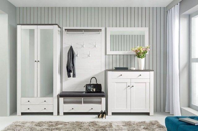 meuble d entree idee originale couleur blanche porte