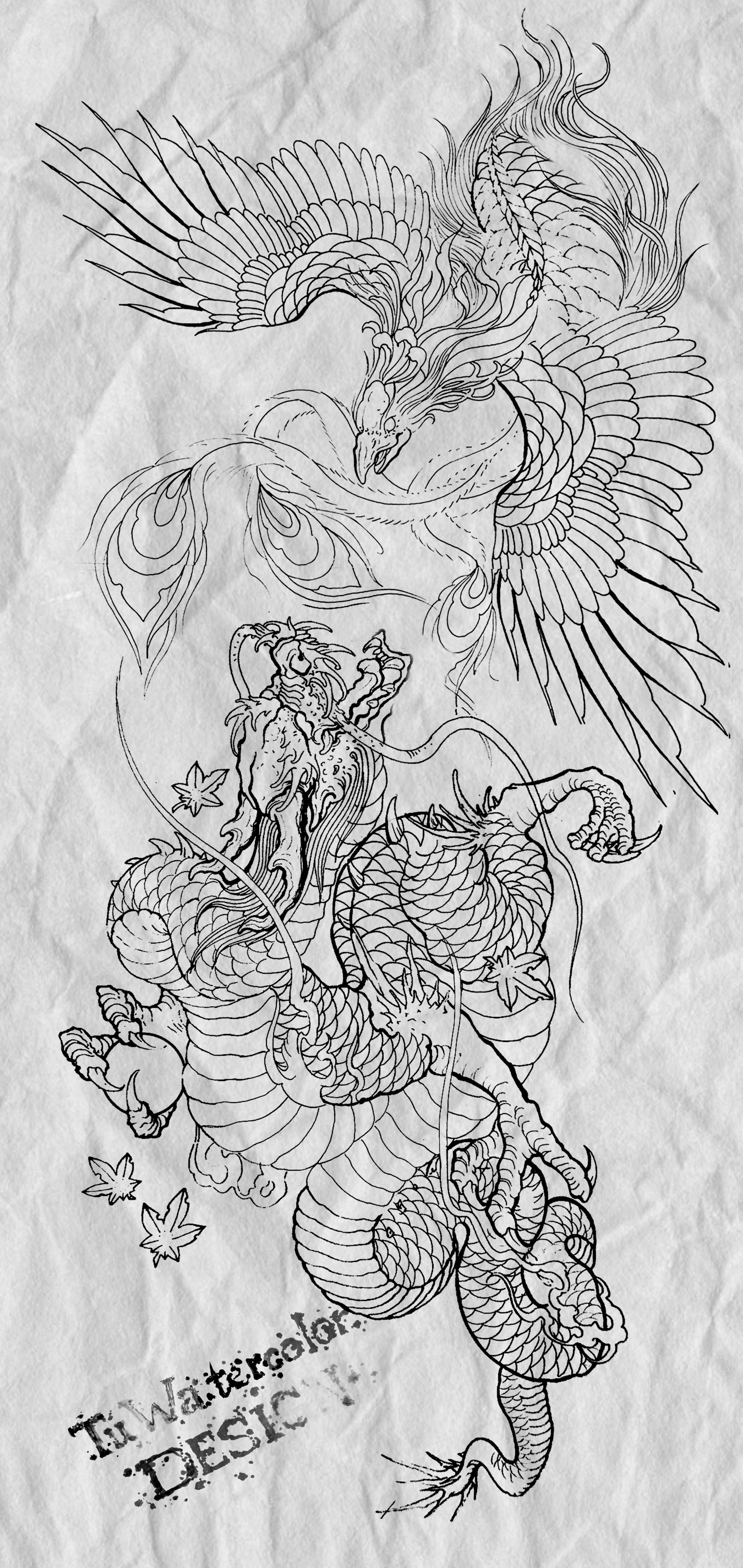 Hinh Xăm Rồng Va Phượng Hoang 2 Linh Vật Mạnh Nhất Trong Truyền Thuyết Chau A Livingroom Interiordesign K Phoenix Tattoo Japanese Tattoo Japanese Tattoo Art