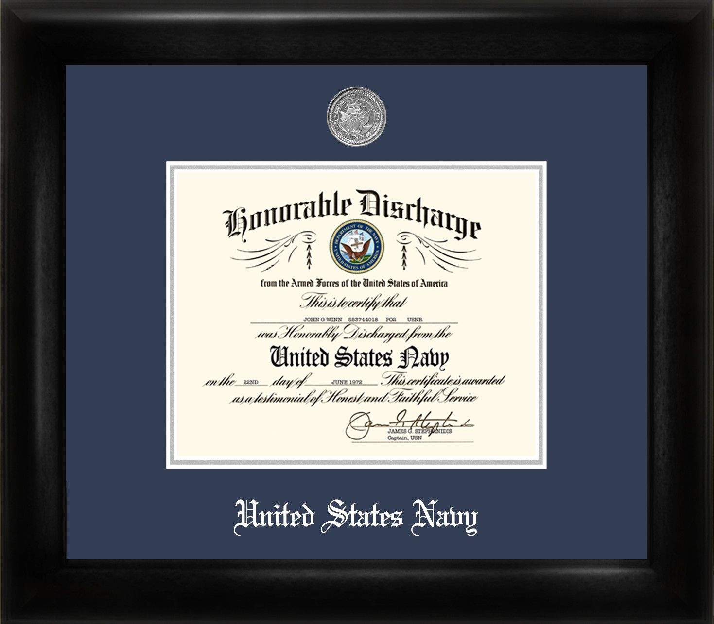 Navy Discharge Picture Frame