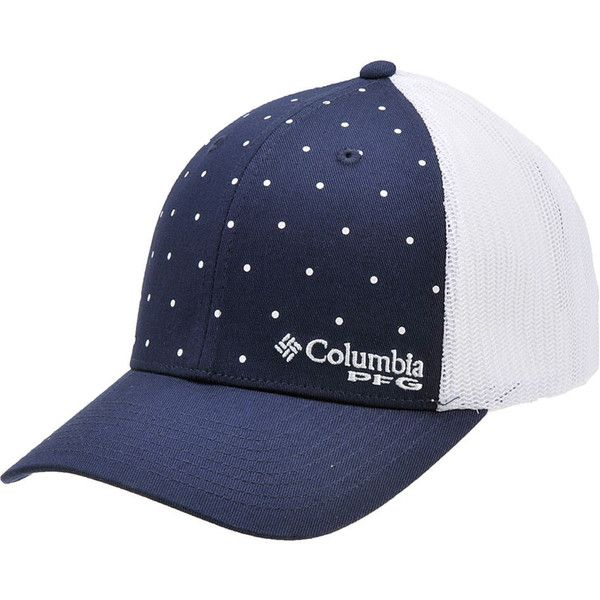 Columbia Women s PFG Mesh Ball Cap Navy Hats ( 20) ❤ liked on Polyvore  featuring accessories c0d169601a2