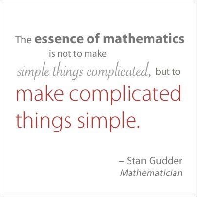 ☆☯☆ #Math #quote : The essence of #mathematics is not to make ...