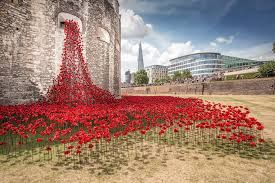 888,246 ceramic poppies spill out from a window onto the vast grassy expanse image © richard lea-hair and historic royal palaces