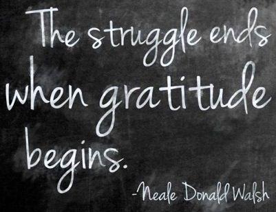 Gratitude quote via Becoming Minimalist on Facebook at www.facebook.com/BecomingMinimalist