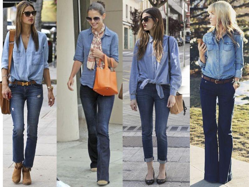 Y Jeans De Mezclilla Es La Unos Camisa Sencilla Abajo Arriba Idea p7XvXwRq0
