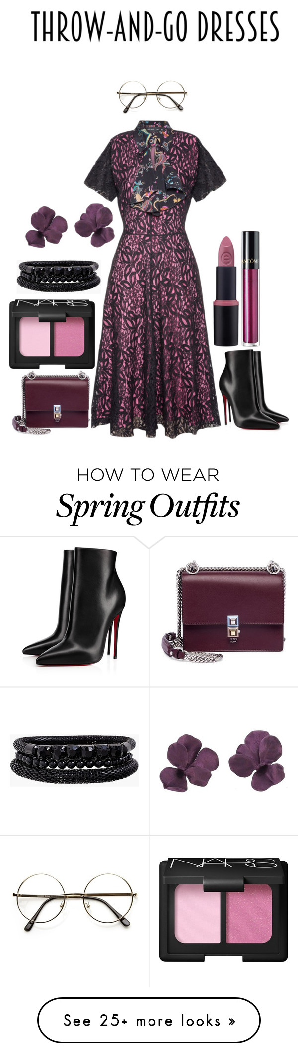 """""""Dress up Girl!"""" by mrudula-26 on Polyvore featuring Christian Louboutin, Fendi, Lancôme, NARS Cosmetics and Spring Street"""