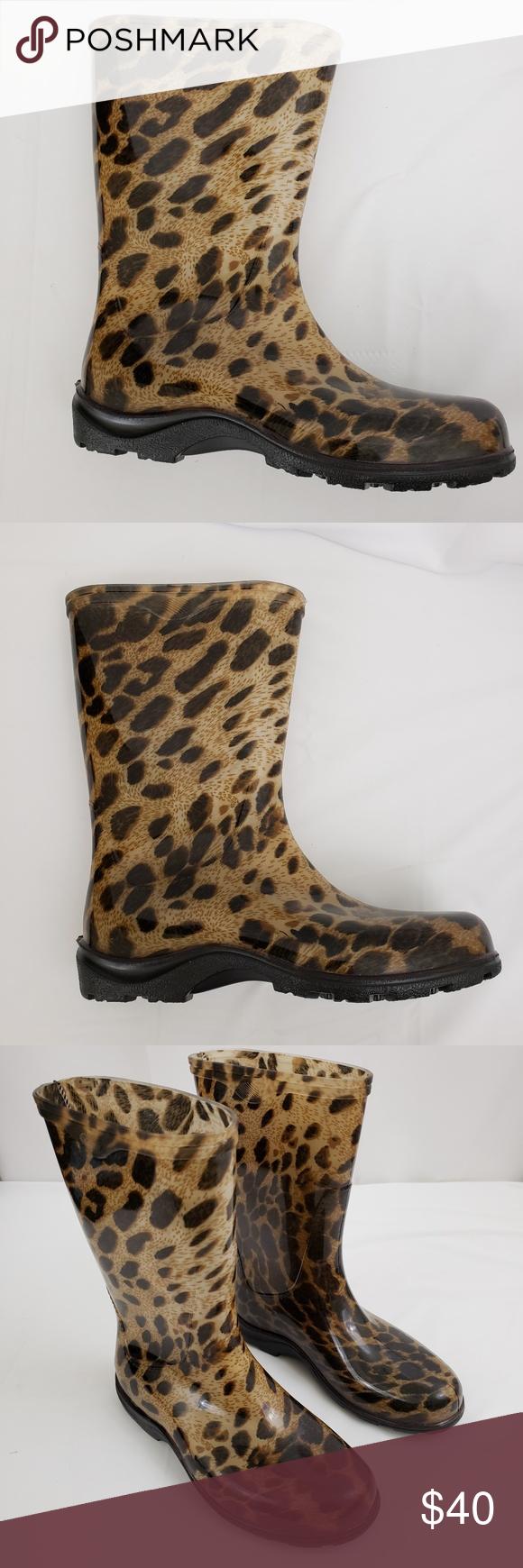 Sloggers rain garden boots cheeta size 7 | Pinterest | Garden boots ...