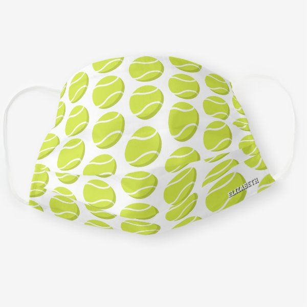 Tennis Balls Pattern Personalized Sports Cloth Face Mask Zazzle Com In 2020 Sport Outfits Personalized Sports Tennis Balls