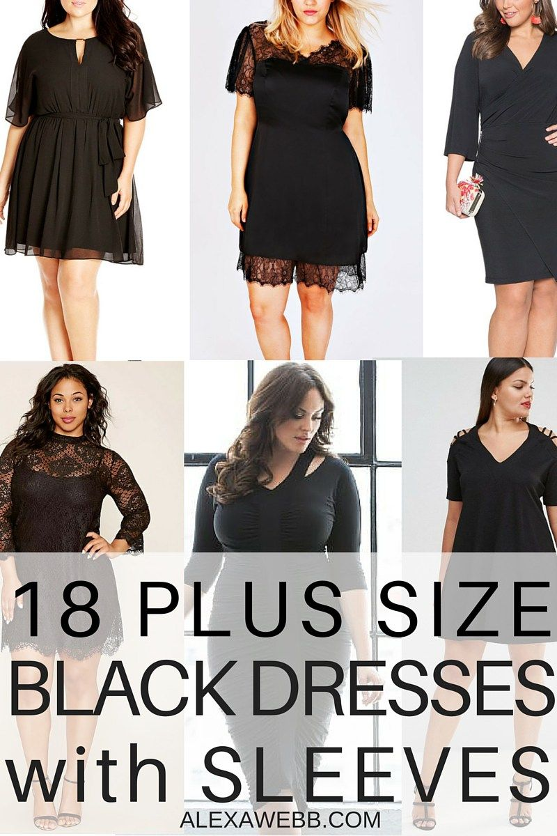 18 Plus Size Black Dresses With Sleeves Lbd Black And Clothes