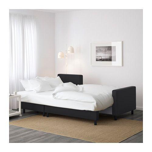 Ikea $499 LUGNVIK Sleeper sectional 3 seat Gran¥n black