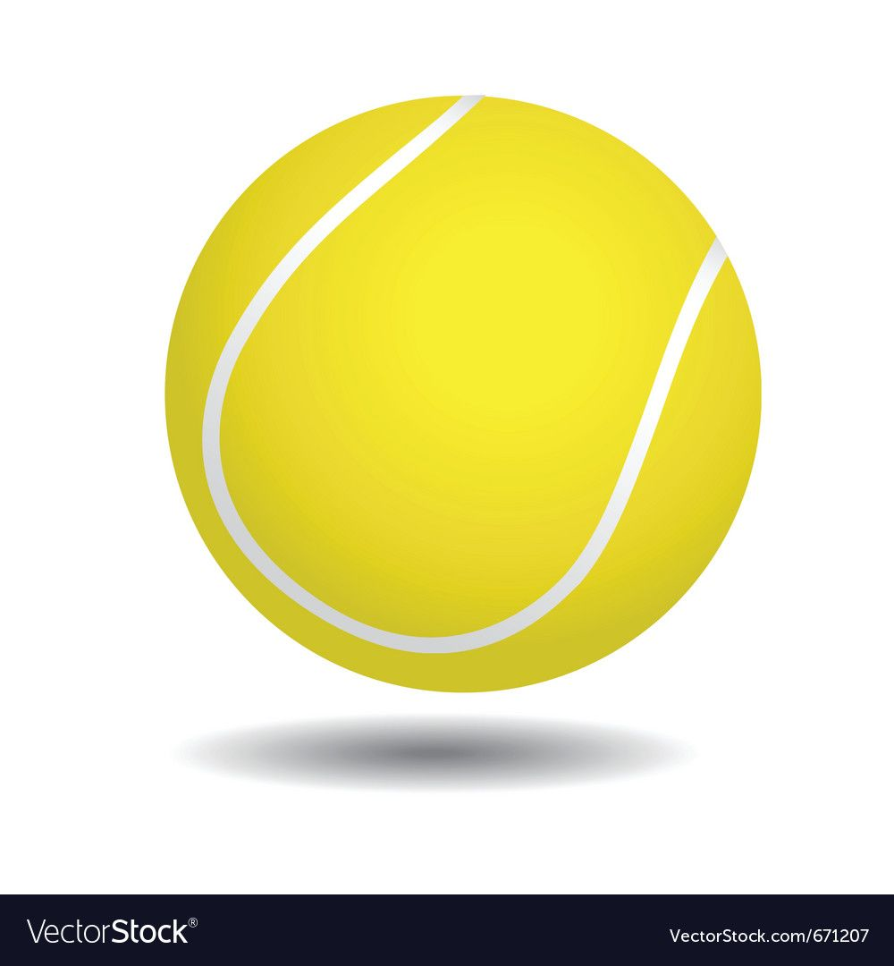 Yellow Tennis Ball Royalty Free Vector Image Vectorstock Spon Ball Royalty Yellow Tennis Ad In 2020 Ball Drawing Tennis Ball Vector Free