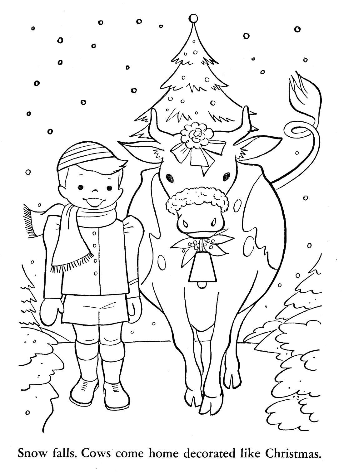 French Christmas Coloring Worksheet