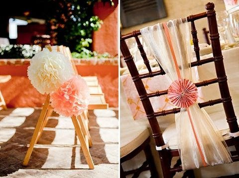 Easy diy wedding chair decorations crafting it s all in the details six alternative chair decor ideas wedding junglespirit Image collections