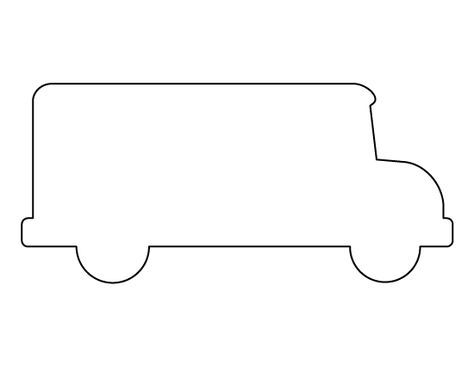Bus Pattern Use The Printable Outline For Crafts Creating