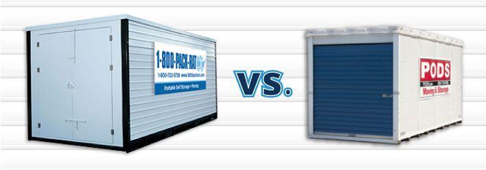 PODS vs packrat mobile storage unit rentals | Storage unit ...
