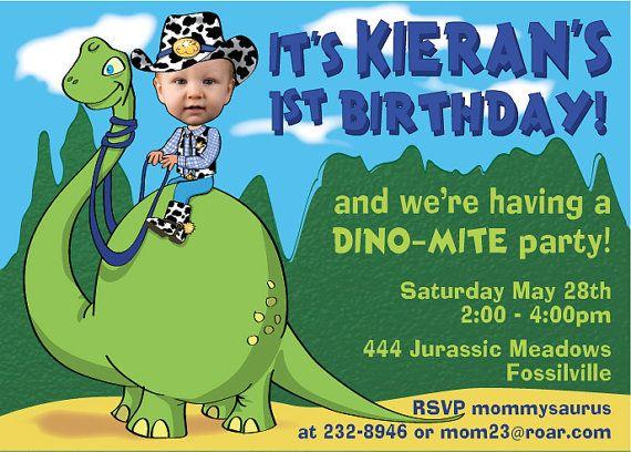 #invitación #dinosaurio Dinosaur Birthday Party Invitation DIGITAL FILE by SandyFordDesign, $15.00
