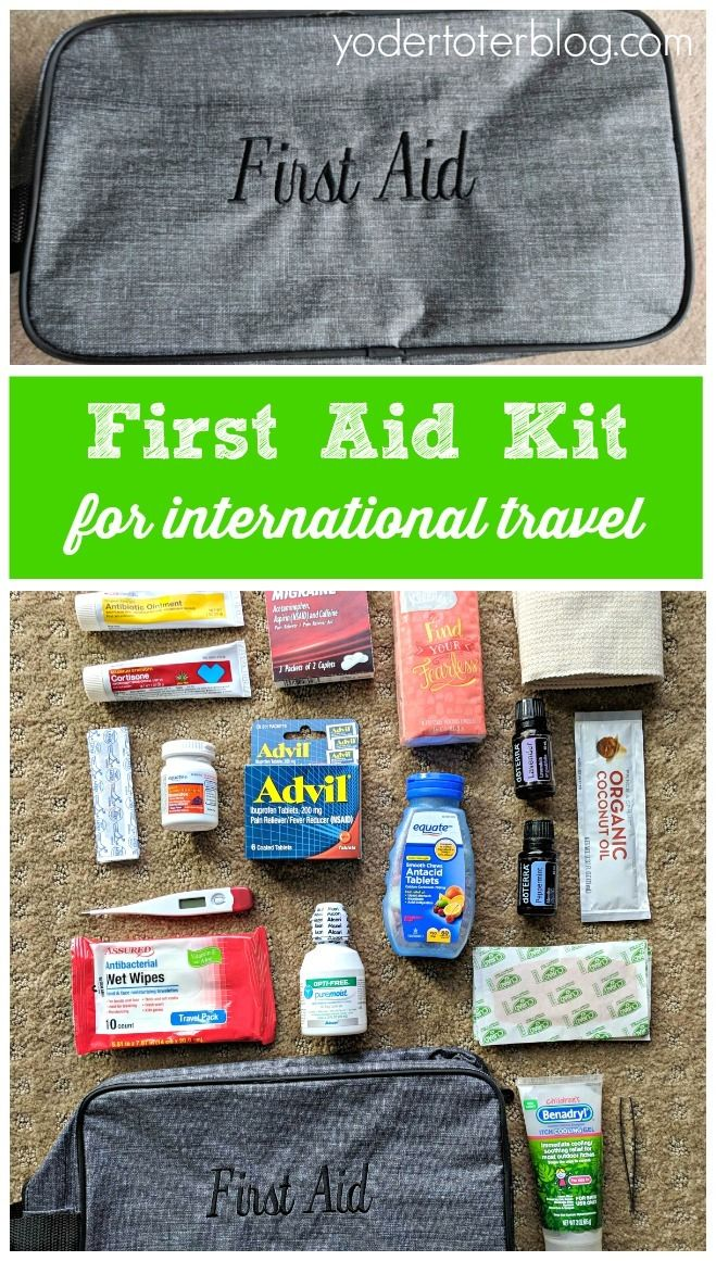 Packing a First Aid Kit for International Travel is part of Packing A First Aid Kit For International Travel Yodertoterblog - Accidents and sickness happen at home and away  Before leaving for international travel, you may want to consider packing a first aid kit  Here's what our family included in our travel medicine bag