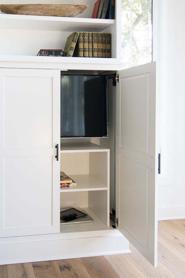 Friday Feels Hidden Tv Cabinet Built Ins Decor