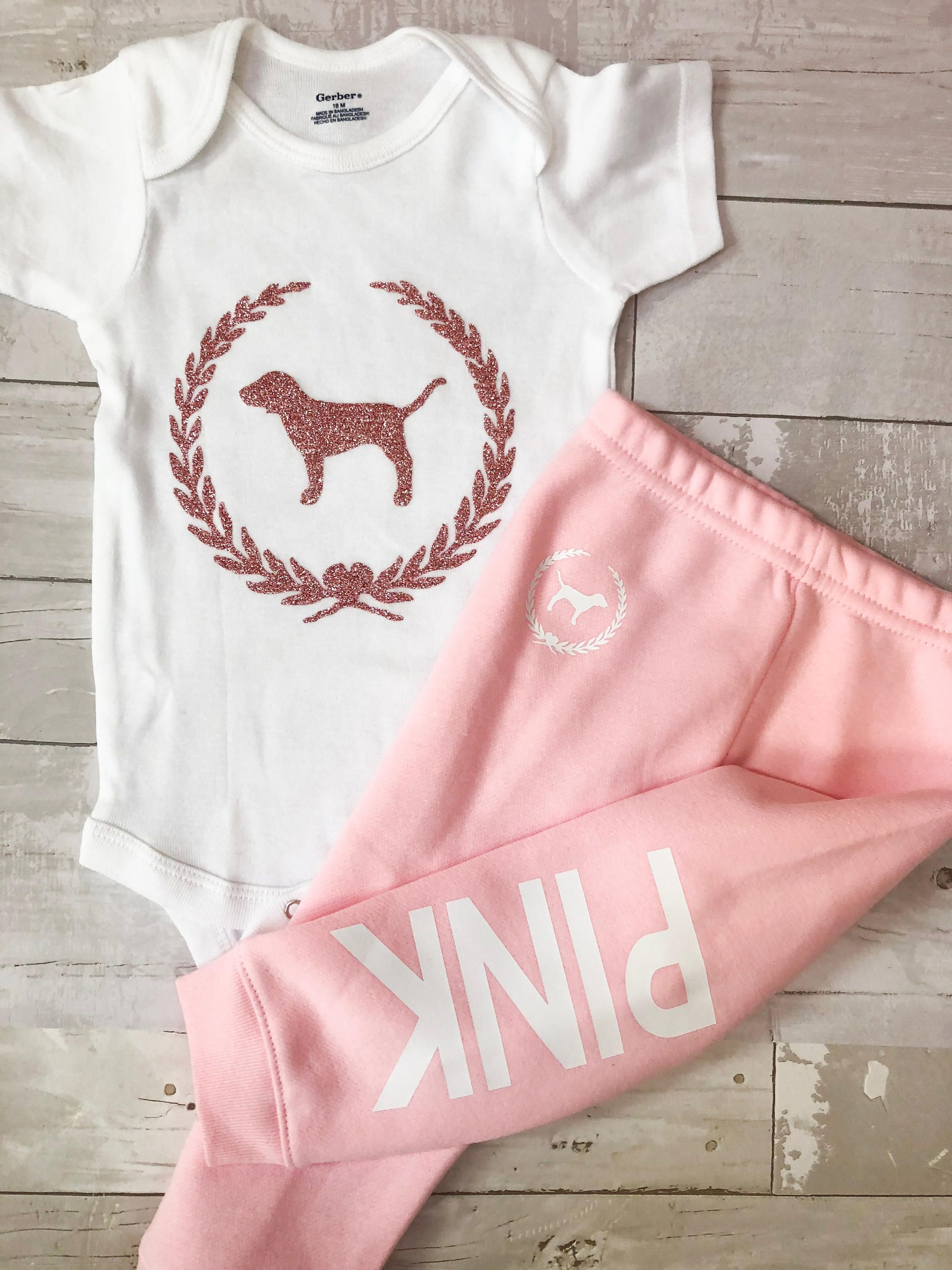 Baby Girl Clothing sets 18 months glitter sweat set