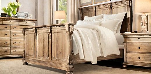 Not really in to natural looking woodm but I love this.    St. James | Restoration Hardware