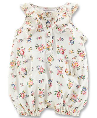 715daf91a38e Ralph Lauren Baby Girls  Floral Romper