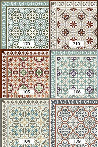 Versandkostenfrei Fliesen Muster Dekorative PVC-Vinyl Matte Linoleum ...