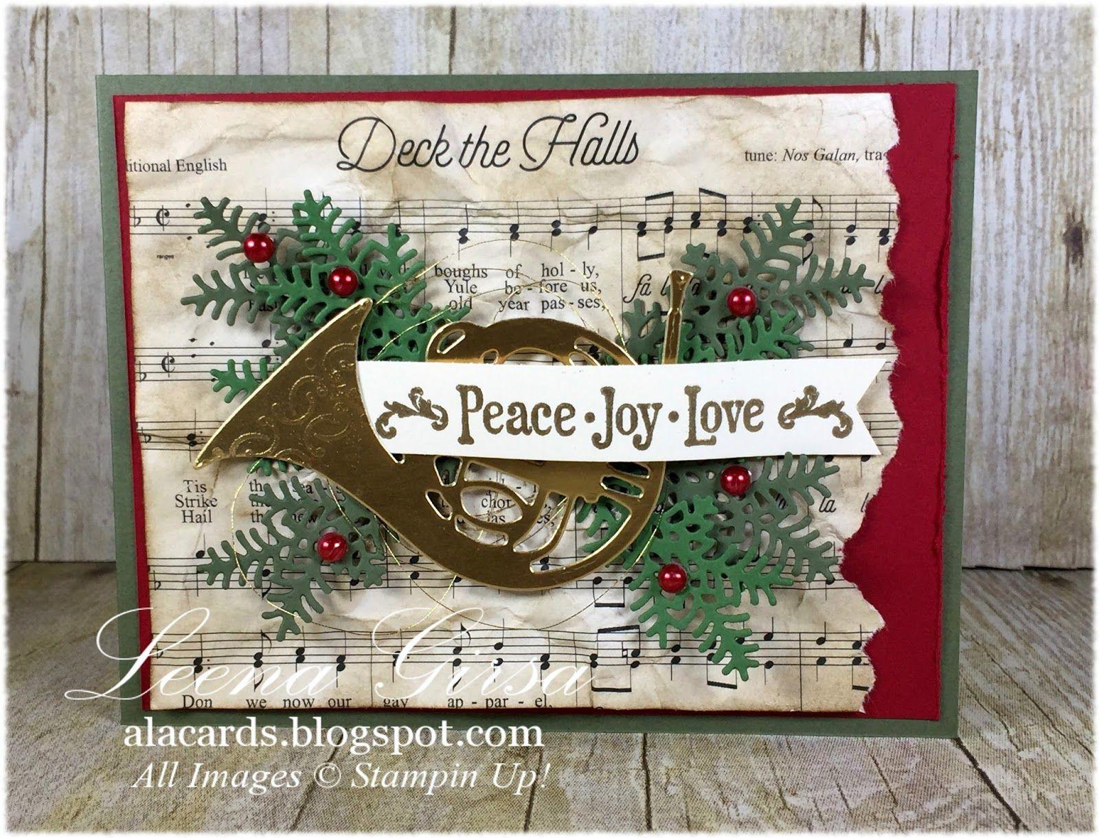 A La Cards A Musical Christmas Christmas Cards Pinterest