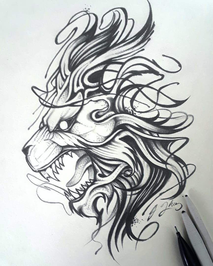 Lion Tattoo Design Lion Tattoo Design Lion Tattoo Tattoo Art Drawings