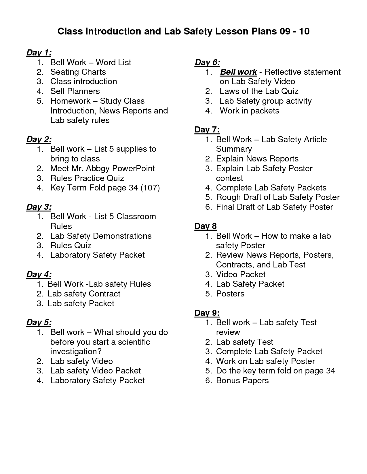 Uncategorized Science Lab Safety Worksheet science lab safety activity rules and lesson plans plans