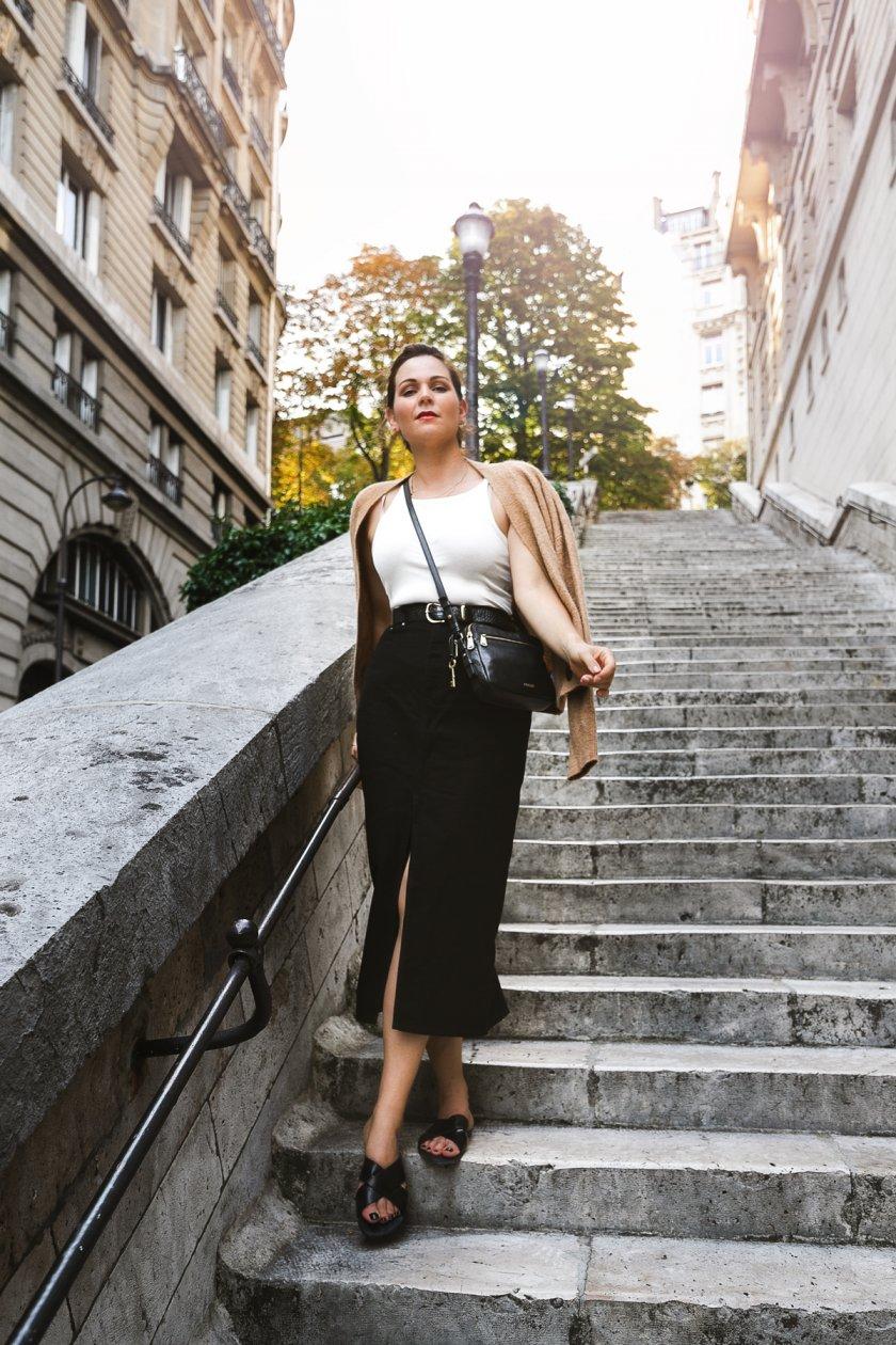 Herbst Outfit Mein Paris Style mit Bleistiftrock und Strickjacke ...
