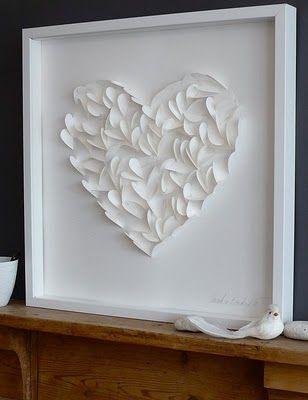 SO cute! Little paper hearts in a shadow box! :)