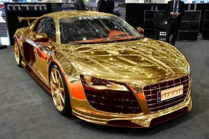 audi r8-made out of gold sealingsandexpungements 888-9-expunge