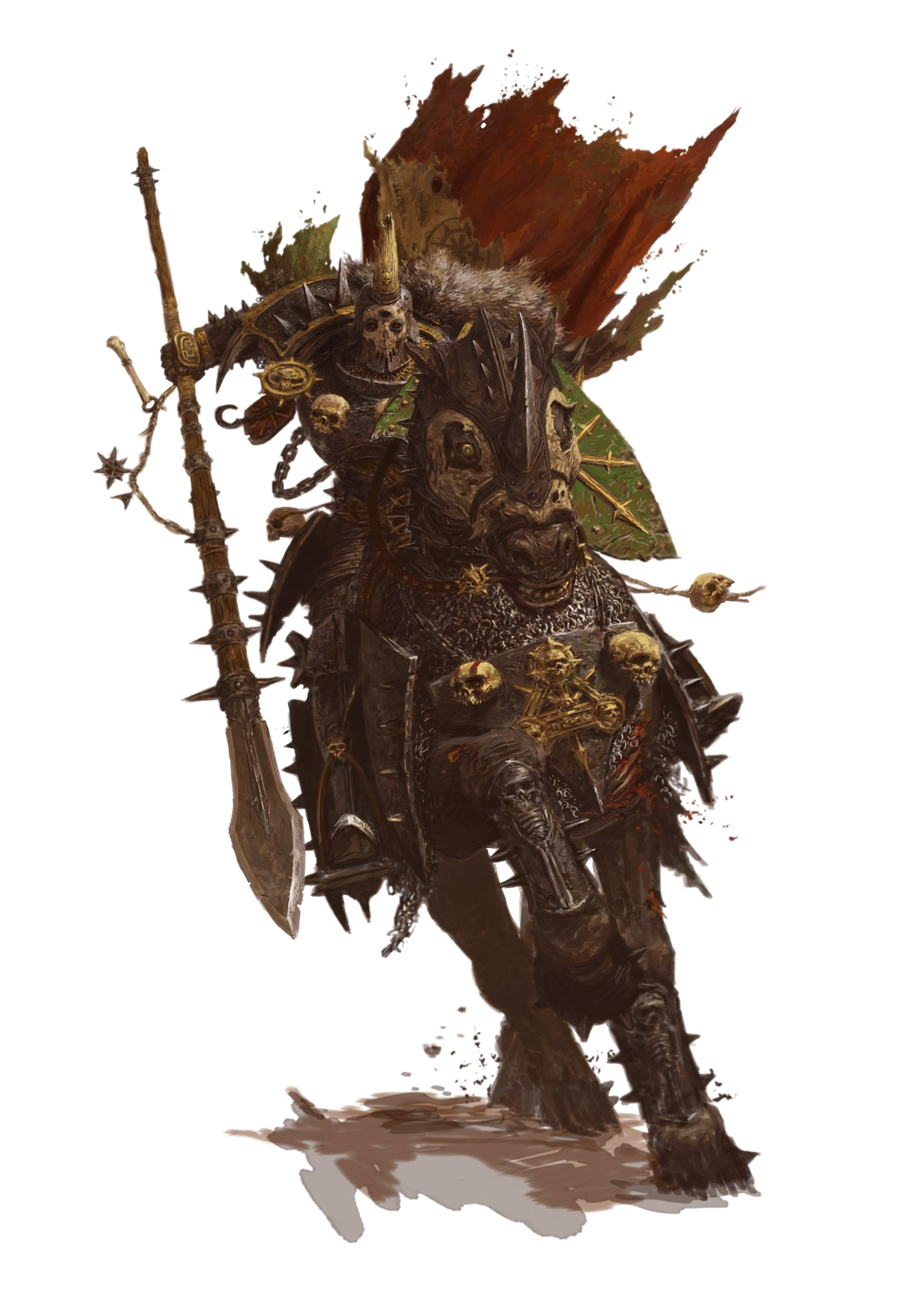 Warhammer Male Cavalier Fighter - Pathfinder PFRPG DND D&D ...