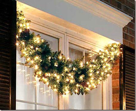 Destaques exteriores para Navidad Navidad Christmas window - Decoracion Navidea Para Exteriores De Casas