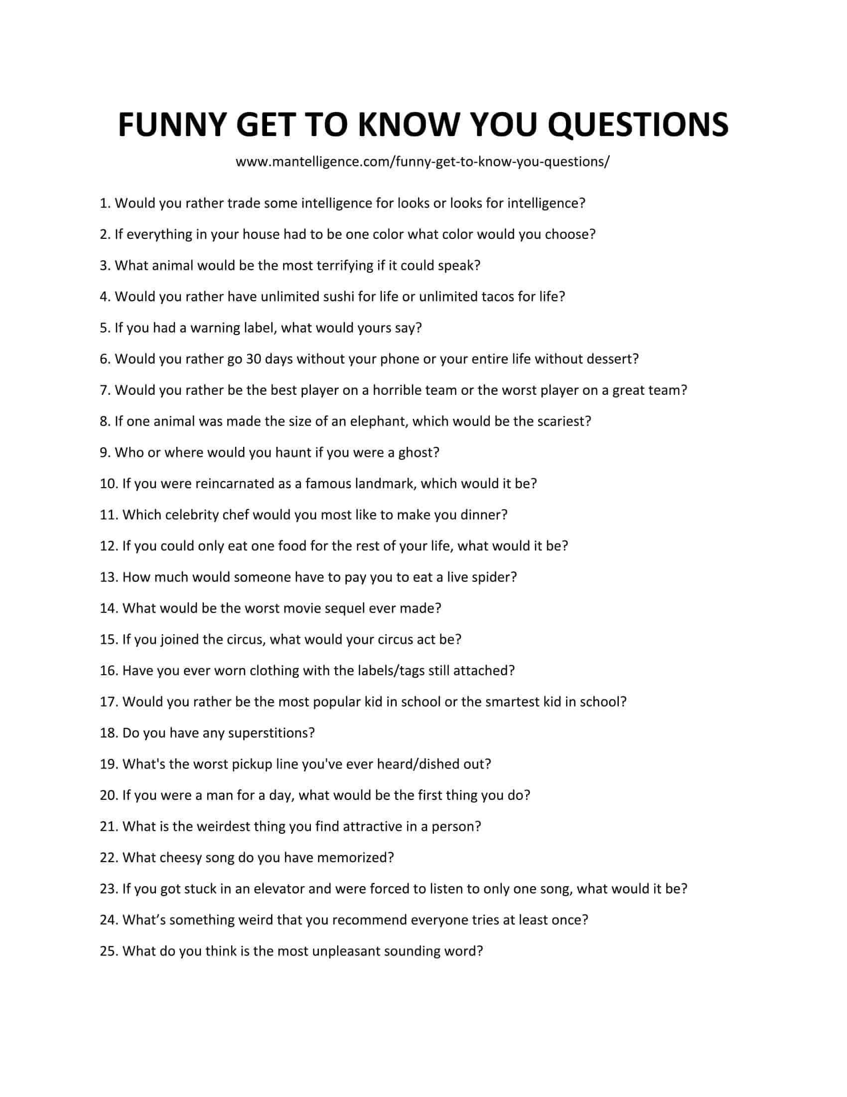 Funny Questions to Ask - Get ready for a hilarious conversation