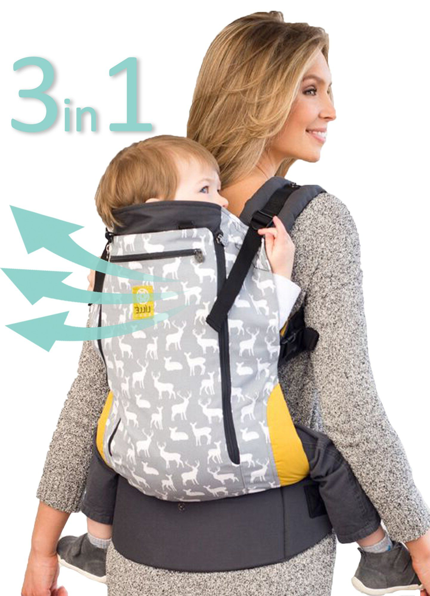 LILLEbaby 3-1 CarryOn All Seasons Toddler Carrier - Oh Deer