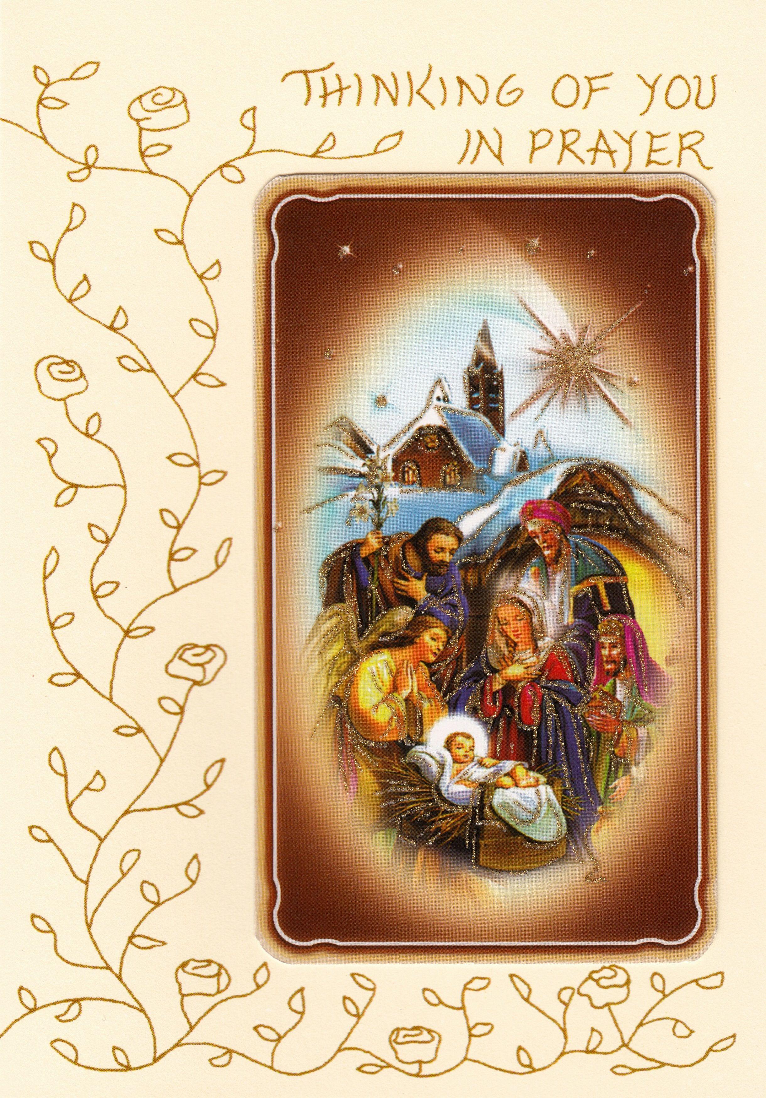 Christmass mass card version b cards holy cards christmass