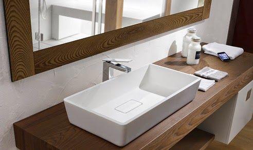 Encimera de madera para el baño | Baños | Pinterest | Baños, Baño y ...
