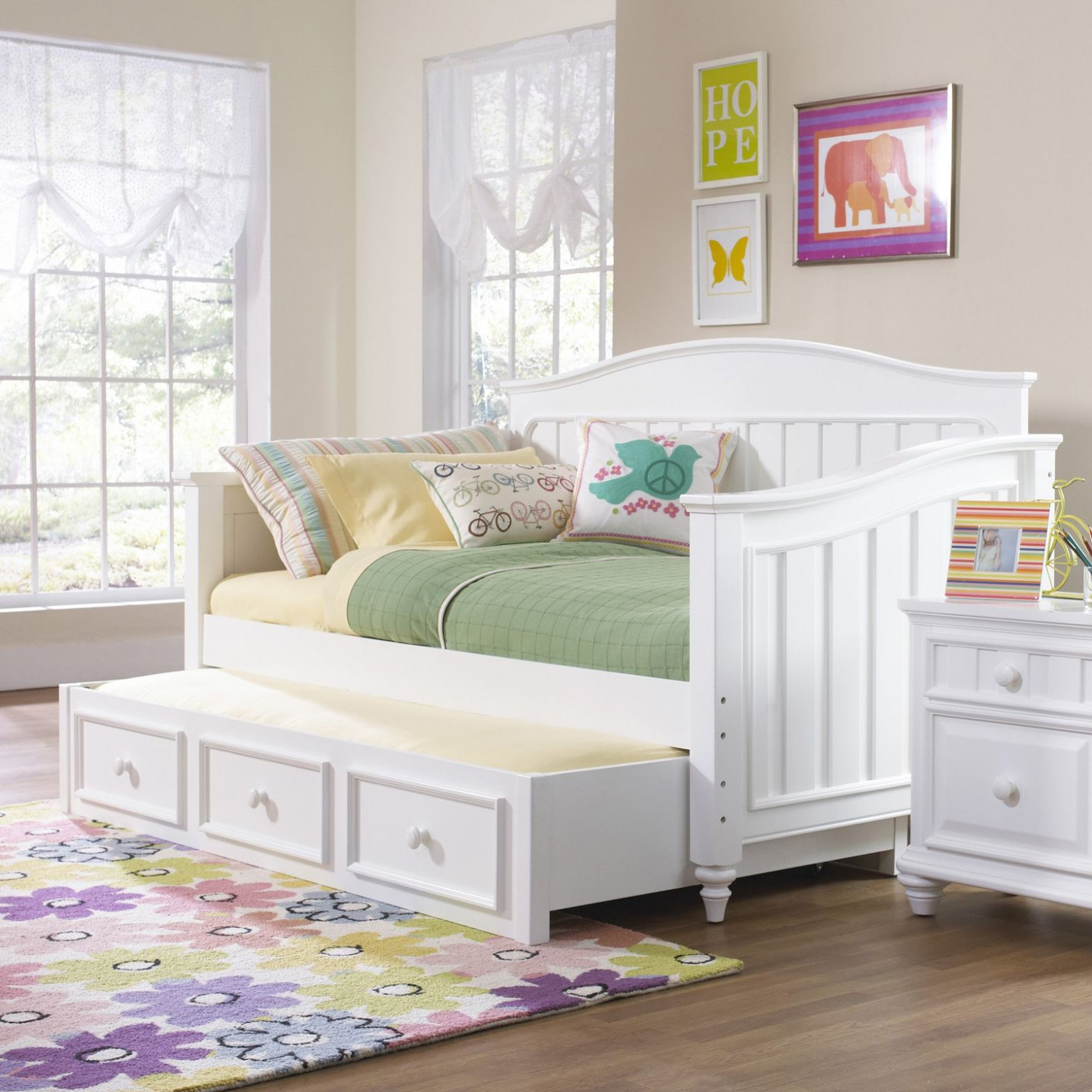 Daybeds Kids Daybed With Trundle Bedroom Winsome White Wood With