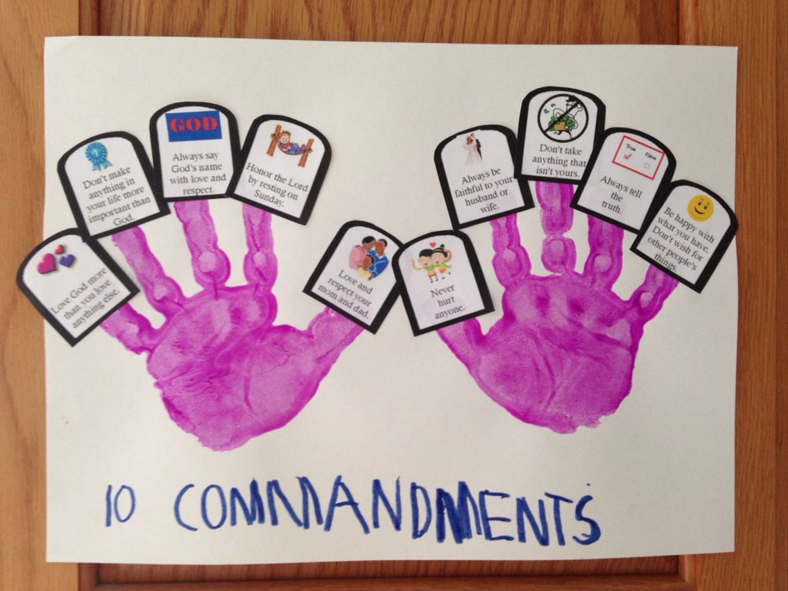 Ten Commandment Craft Hand