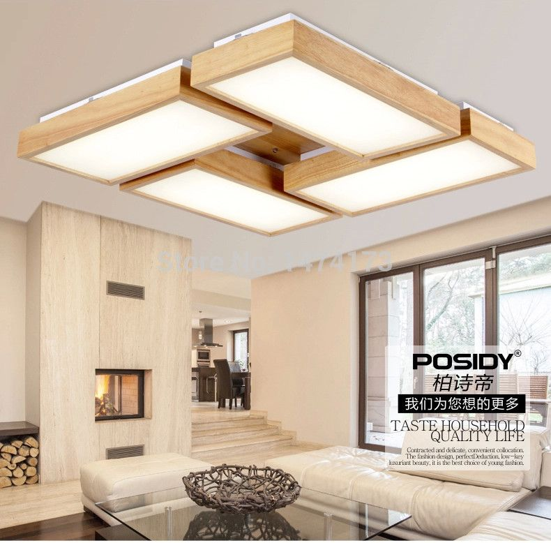 Newest home wood living room ceiling lights LED New concept design ...
