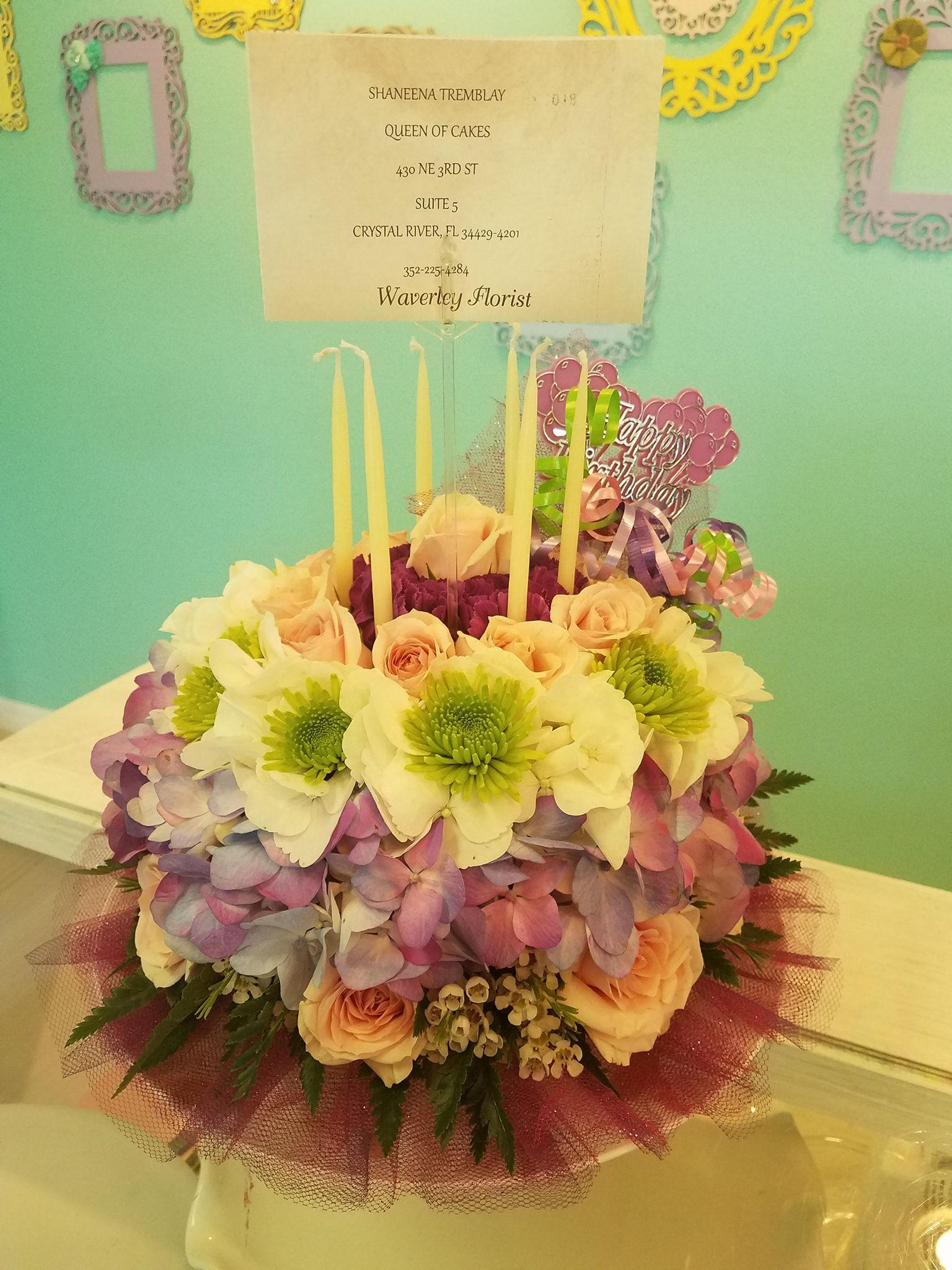 flower birthday cake delivery